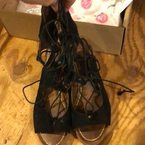 Matisse Shoes - Matisse black suede lace up sandals